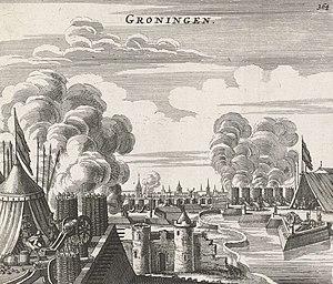 Siege of Groningen (1594) - Siege of Groningen 1594 by Jan Janssonius