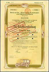 2c947226 bond of the Benz & Cie, issued 1912