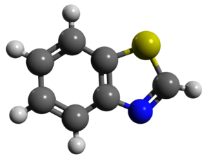 Benzothiazole - Image: Benzothiazole ball and stick