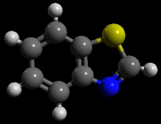 Benzothiazole - Image: Benzothiazole ball and stick