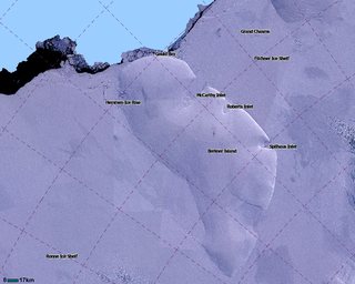 Berkner Island ice rise in the British Antarctic Territory, Antarctica