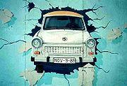 Celebre mural, ícono de la caída del Muro de Berlín.