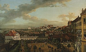 History of the Polish–Lithuanian Commonwealth (1764–95) - Warsaw painted by Bernardo Bellotto; view from the Royal Castle in 1773