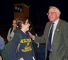 Bernie Sanders at Milton High School - Milton, Vermont
