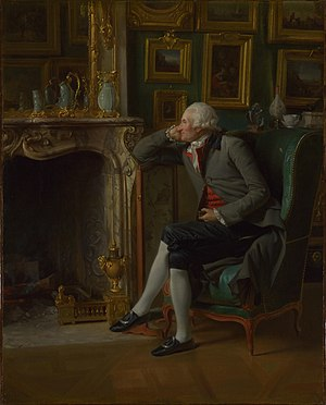 Henri-Pierre Danloux - Baron de Besenval in his Study by Henri-Pierre Danloux, 1791. National Gallery, London