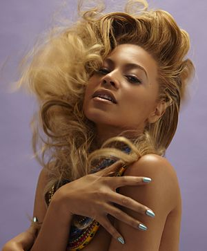 Women in rock - Beyoncé as photographed by Tony Duran in 2011.