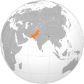 Bhutan Pakistan Locator (orthographic projection).png