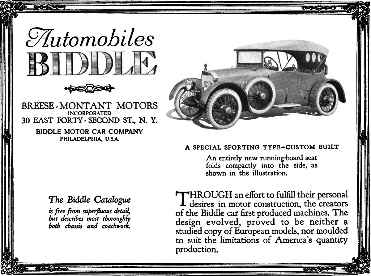 Biddle Motor Car Company - Wikipedia