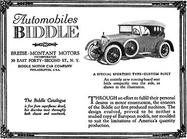 The Car Company >> Biddle Motor Car Company Wikipedia