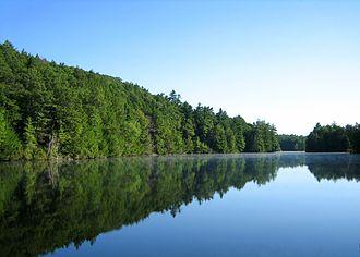Bigelow Hollow State Park - Bigelow Pond, near the park entrance