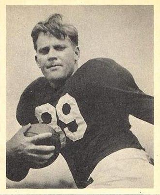 Bill DeCorrevont - DeCorrevont on a 1948 Bowman football card
