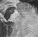 Blockade Glacier, terminus of valley glacier, August 25, 1965 (GLACIERS 6425).jpg