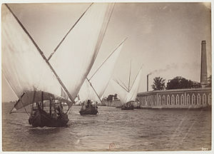 Beniamino Facchinelli - Image: Boats on the Nile by Facchinelli