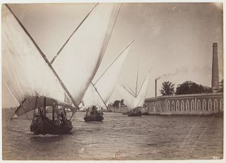 Felucca - Image: Boats on the Nile by Facchinelli