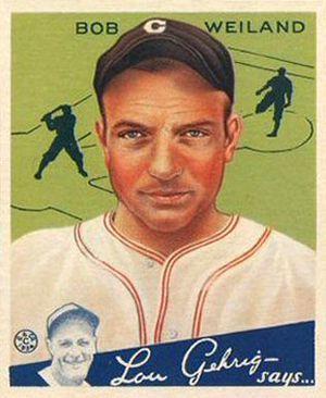 Bob Weiland - Bob Weiland 1934 Goudey baseball card.