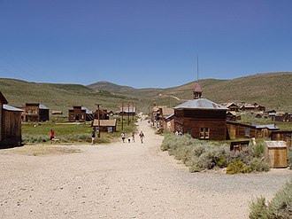 Mono County, California - Bodie, as seen from the hill looking to the cemetery