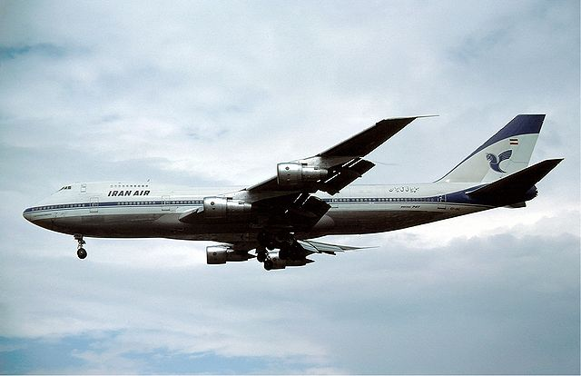 Boeing 747 Iran Air London - August 1979, From WikimediaPhotos