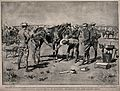 Boer War; Colonel Baden-Powell inspecting a sick horse at a Wellcome V0015623.jpg