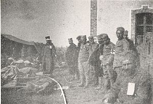 Battle of Kumanovo - Hospital near the village Tabanovce, during the battle of Kumanovo, 1912.