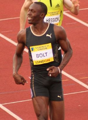2002 World Junior Championships in Athletics - With his 200 metres gold medal, Usain Bolt of Jamaica became the youngest World Junior Championships winner at the time.