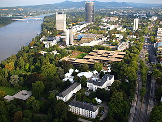 Bonn - A view over the Bundesviertel (the location of the federal government presence in Bonn)