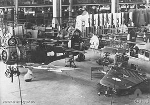 CAC Boomerang - Boomerangs under construction at CAC's factory at Fisherman's Bend