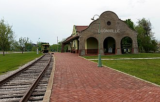 Boonville, Missouri - Former train station in Boonville