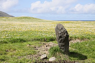 Barra - Standing stone at Borve