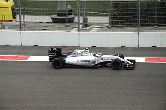 2015 Russian Grand Prix - Valtteri Bottas qualified third but retired after a collision on the last lap.