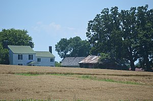 National Register of Historic Places listings in Halifax County, Virginia - Image: Brandon Plantation from Henderson Road