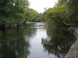 Photo of wide tree-lined Brandywine Creek