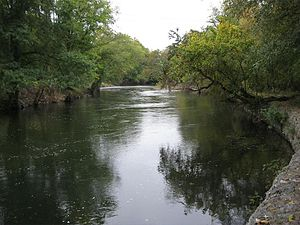 Brandywine Creek (Christina River) - Brandywine Creek looking upstream from the Brandywine River Museum at Chadds Ford