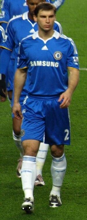 Branislav Ivanović - Ivanović playing for Chelsea against Arsenal in 2008