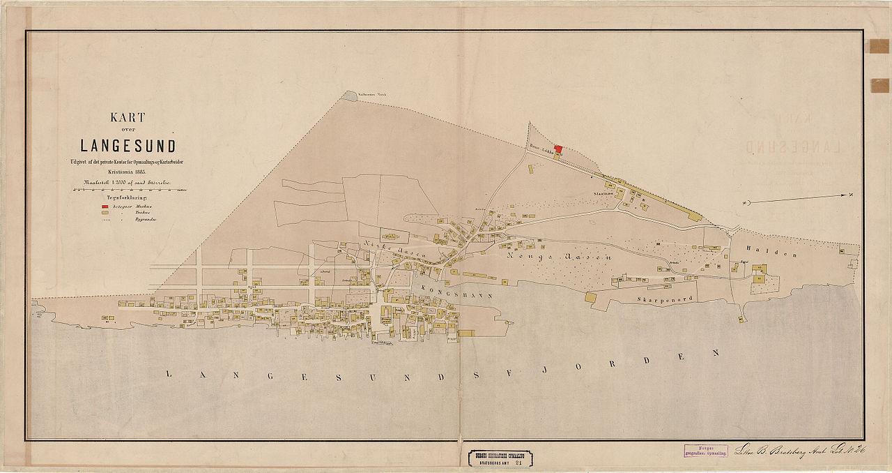 kart langesund telemark File:Bratsberg amt nr 21  Kart over Langesund, 1885.  kart langesund telemark