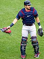 Braves catcher Travis d'Arnaud in pregame September 11, 2020 (50333483667) (cropped).jpg