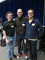 Brian, me and Randy (Madrona Labs), Pacific Northwest Synthfest 2011.jpg
