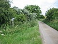 Bridleway and footpath on the lane to Grickstone Farm - geograph.org.uk - 486765.jpg