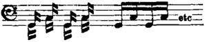 Tonguing - Image: Britannica Kettledrum Double cross beat