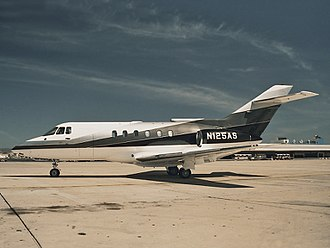 Business jet - A typical business jet. Almost 1,700 BAe 125/Hawker 800 aircraft were produced.