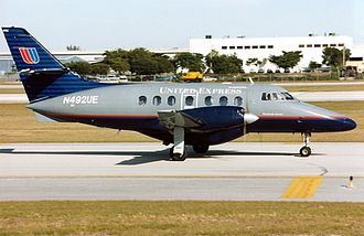 United Express - A United Express Jetstream 31 in the 1993-2004 livery