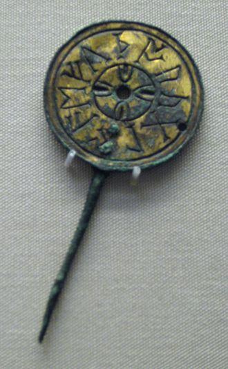 Anglo-Saxon runes - Image: British Museum Malton Pin