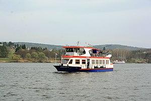 Brno, přehrada, U kotvy, loď Dallas (01).jpg