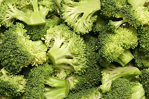 About ten tons of broccoli were donated by Bar...