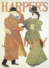 Brooklyn Museum - Harper's Poster - January 1895 - Edward Penfield