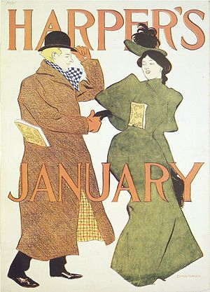 Harper's Magazine - Image: Brooklyn Museum Harper's Poster January 1895 Edward Penfield