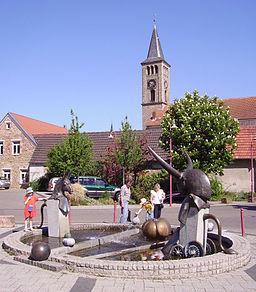 view of Dannstadt, part of Dannstadt-Schauernheim in Rhineland-Palatinate, Germany