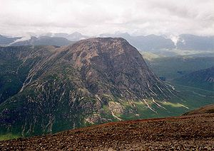Creise - Buachaille Etive Mòr seen from the summit of Creise.