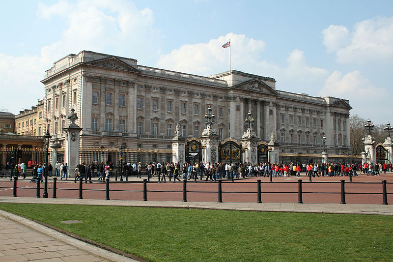 The Buckingham Palace in London.