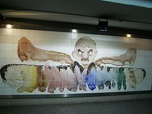 Avenida de Mayo (Buenos Aires Underground) - Image: Buenos Aires Combinación Subte Lima y Avenida de Mayo