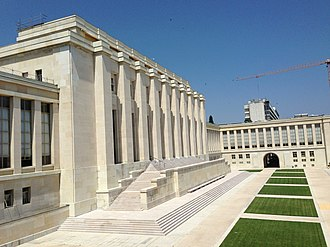 Palace of Nations - Image: Building A of the Palace of Nations, UN Campus, Geneva, 20130716 01